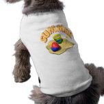 Sommer 3 ärmelfreies Hunde-Shirt