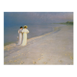 Sommer-Abend auf dem Skagen südlichen Strand Postkarten