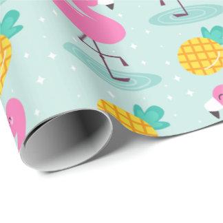 Sommer-Ananas-Flamingo-Packpapier Geschenkpapier