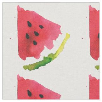 Sommer-Aquarell-Wassermelone Stoff