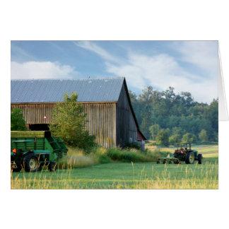Sommer auf dem Bauernhof Karte
