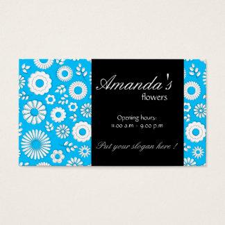 Sommer-blaue mit BlumenVisitenkarte Visitenkarte