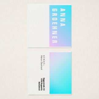 Sommer-blaue rosa Steigungs-Künstler-Karten Quadratische Visitenkarte