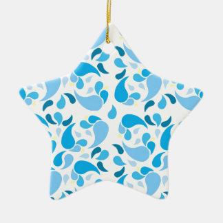 Sommer-Blues Keramik Ornament