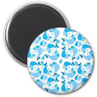 Sommer-Blues Runder Magnet 5,7 Cm