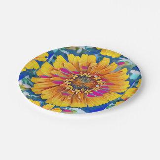 Sommer-Blume in der vollen Blüte Pappteller