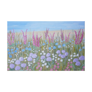 Sommer-Blumen Leinwanddruck