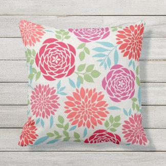 Sommer-Blumen-Muster Kissen Für Draußen