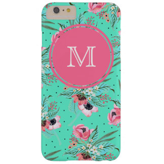 Sommer-Blumen - personalisierter aquamariner Barely There iPhone 6 Plus Hülle