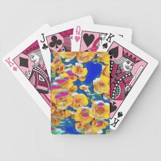 Sommer-Blumen-Pop Bicycle Spielkarten