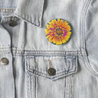 Sommer-Blumen-Pop Runder Button 5,1 Cm