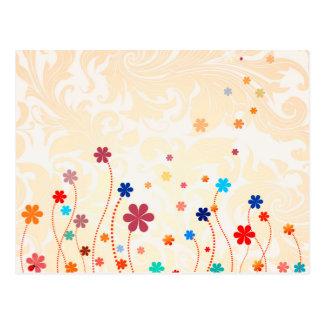 Sommer-Blumen Postkarte