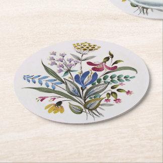 Sommer-Blumenstrauß Runder Pappuntersetzer