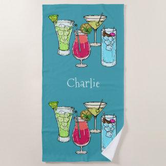 Sommer-Cocktail-Name-Badetuch Strandtuch