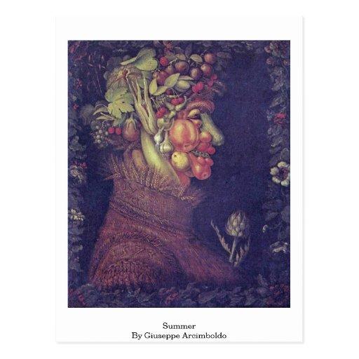 Sommer durch Giuseppe Arcimboldo Postkarte