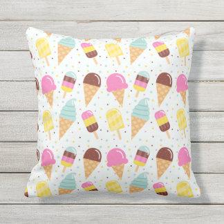 Sommer-Eiscreme-InnenWurfs-Kissen im Freien Kissen Für Draußen