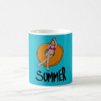 Sommer entspannen sich kaffeetasse