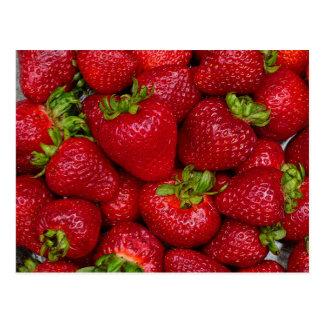 Sommer-Erdbeere Postkarte