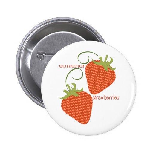 Sommer-Erdbeeren Anstecknadelbuttons