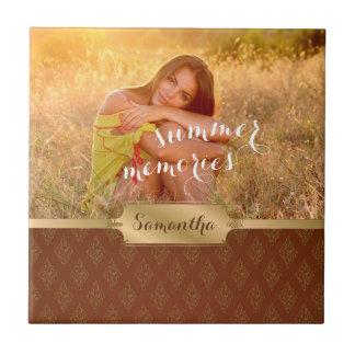 Sommer-Erinnerungens-kundenspezifisches Foto und Fliese