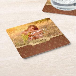 Sommer-Erinnerungens-kundenspezifisches Foto und Rechteckiger Pappuntersetzer