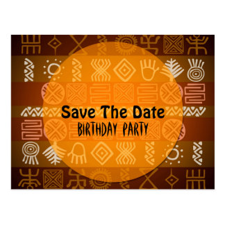 Sommer-ethnischer 17. Geburtstag Save the Date Postkarte