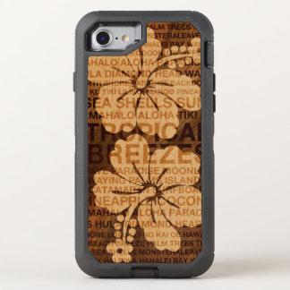 Sommer fasst das hawaiische hölzerne OtterBox defender iPhone 8/7 hülle