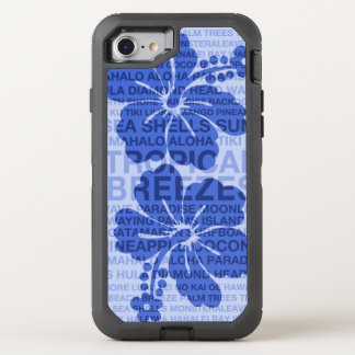 Sommer fasst hawaiischen Hibiskus ab OtterBox Defender iPhone 8/7 Hülle