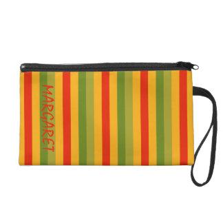 Sommer-Fiesta-Palette Stripes personalisiertes Wristlet Handtasche