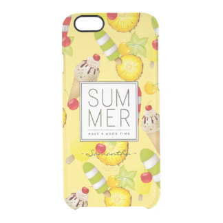 Sommer-Frucht-und Eiscreme-Spaß Durchsichtige iPhone 6/6S Hülle