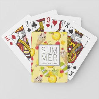 Sommer-Frucht-und Eiscreme-Spaß Spielkarten