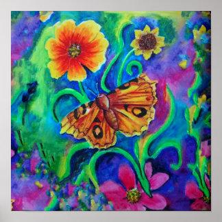 Sommer-Garten-Motte Poster