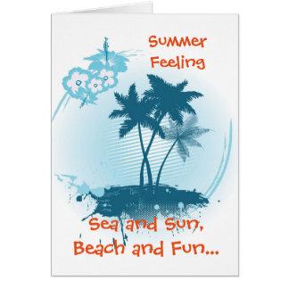 Sommer-Gefühl Karte