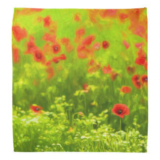 Sommer-Gefühle - wunderbare Mohnblumen-Blumen I Halstuch