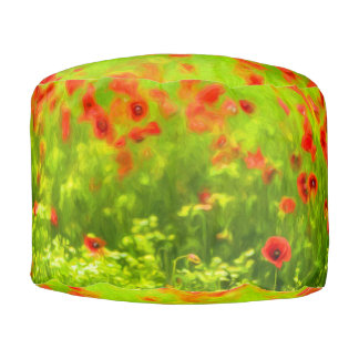 Sommer-Gefühle - wunderbare Mohnblumen-Blumen I Hocker
