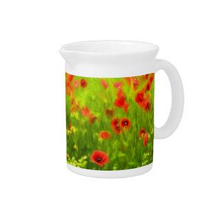 Sommer-Gefühle - wunderbare Mohnblumen-Blumen I Krug