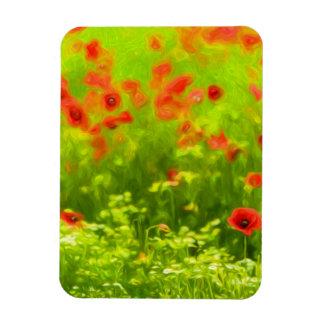 Sommer-Gefühle - wunderbare Mohnblumen-Blumen I Magnet