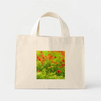Sommer-Gefühle - wunderbare Mohnblumen-Blumen I Mini Stoffbeutel