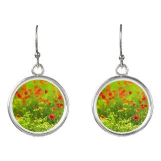 Sommer-Gefühle - wunderbare Mohnblumen-Blumen I Ohrringe