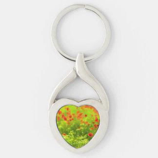 Sommer-Gefühle - wunderbare Mohnblumen-Blumen I Schlüsselanhänger