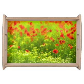 Sommer-Gefühle - wunderbare Mohnblumen-Blumen I Serviertablett