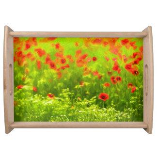 Sommer-Gefühle - wunderbare Mohnblumen-Blumen I Tablett