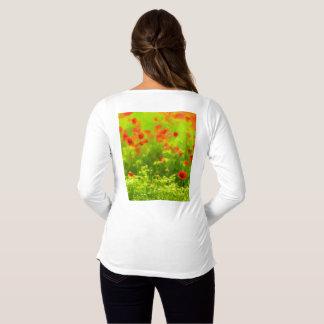 Sommer-Gefühle - wunderbare Mohnblumen-Blumen I Umstands-T-Shirt