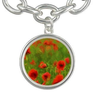 Sommer-Gefühle - wunderbare Mohnblumen-Blumen II Armbänder