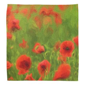 Sommer-Gefühle - wunderbare Mohnblumen-Blumen II Halstuch
