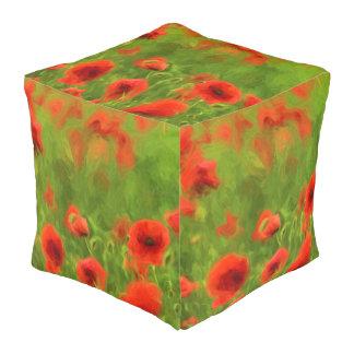 Sommer-Gefühle - wunderbare Mohnblumen-Blumen II Hocker