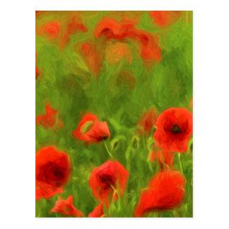 Sommer-Gefühle - wunderbare Mohnblumen-Blumen II Postkarte