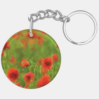 Sommer-Gefühle - wunderbare Mohnblumen-Blumen II Schlüsselanhänger