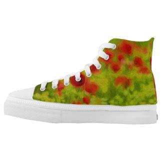 Sommer-Gefühle - wunderbare Mohnblumen-Blumen III Hoch-geschnittene Sneaker