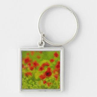 Sommer-Gefühle - wunderbare Mohnblumen-Blumen III Schlüsselanhänger